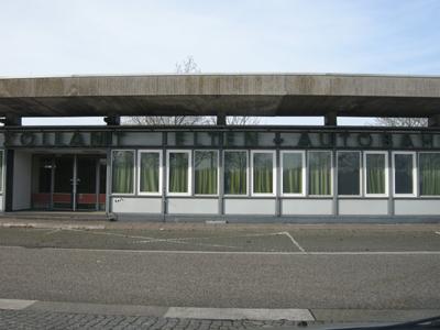 grensgebouwen bij Elten langs de A12