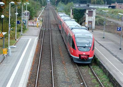 Treinstaking in Duitse grensstreek