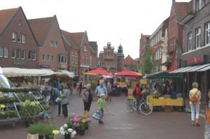 Winkelen in Duitsland - Meppen marktplein