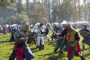 Middeleeuws feest bij klooster graefenthal in Goch Asperden