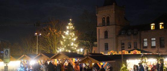 Winkelen in Duitsland met eindejaarsmarkt